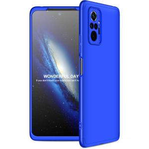 Θήκη GKK Full body Protection 360° από σκληρό πλαστικό για Xiaomi Redmi Note 10 Pro μπλε