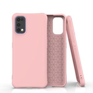 Θήκη Realme 7 Pro OEM Matte Premium Πλάτη με ημίσκληρο TPU ροζ