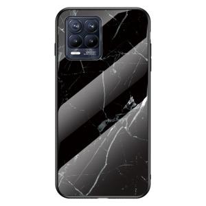 Θήκη Realme 8 / 8 Pro OEM σχέδιο Marble με Πλάτη Tempered Glass TPU μαύρο