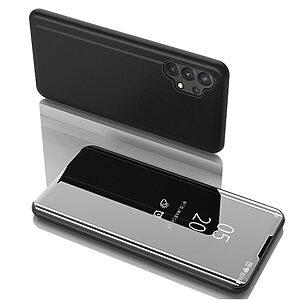 Θήκη Samsung Galaxy A32 4G OEM Mirror Surface Series Flip Window δερματίνη μαύρο