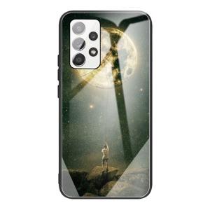 Θήκη Samsung Galaxy A32 4G OEM σχέδιο Catching the Moon με πλάτη από Tempered Glass και εσωτερικό TPU
