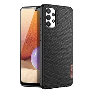 Θήκη Samsung Galaxy A32 4G DUX DUCIS Fino Series πλάτη από ύφασμα με εσωτερικό Premium TPU μαύρο