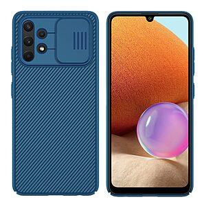 Θήκη Samsung Galaxy A32 4G NiLLkin Camshield Series Πλάτη με προστασία για την κάμερα από σκλήρό Premium TPU μπλε