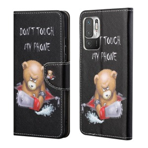 Θήκη Xiaomi Redmi Note 10 5G / Poco M3 Pro 5G OEM Angry bear with chainsaw με βάση στήριξης