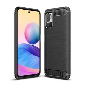 Θήκη Xiaomi Redmi Note 10 5G / Poco M3 Pro 5G OEM Brushed TPU Carbon Πλάτη μαύρο