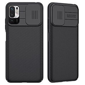 Θήκη Xiaomi Redmi Note 10 5G / Poco M3 Pro 5G NiLLkin Camshield Series Πλάτη με προστασία για την κάμερα από σκλήρό Premium TPU μαύρο