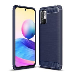 Θήκη Xiaomi Redmi Note 10 5G / Poco M3 Pro 5G OEM Brushed TPU Carbon Πλάτη μπλε σκούρο