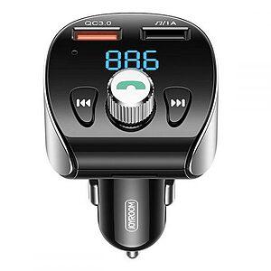 Αναμεταδότης FM Transmiter Joyroom Bluetooth 5.0 Φορτιστής Αυτοκινήτου MP3 με 2x USB θύρες και θύρα TF micro SD 18W 3A Quick Charge 3.0 (JR-CL02) μαύρο