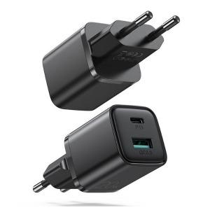 Φορτιστής JOYROOM με δύο θύρες 1xUSB και 1xType C 20W Quick Charge 03.0 (L-QP207) μαύρο