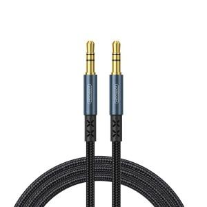 Καλώδιο adapter Joyroom stereo audio AUX 3,5mm mini jack σε 3,5mm mini jack 1,5 m (SY-15A1) μπλε