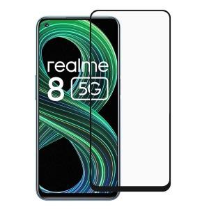 Full προστασία οθόνης για Realme 8 5G Tempered Glass πλήρους κάλυψης Full Glue 9H OEM 0.26mm