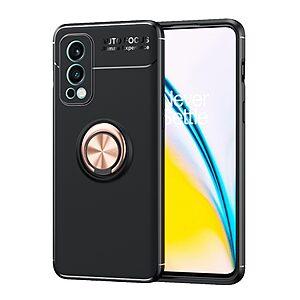Θήκη OnePlus Nord 2 5G OEM Magnetic Ring Kickstand / Μαγνητικό δαχτυλίδι / Βάση στήριξης TPU μαύρο / ροζ χρυσό