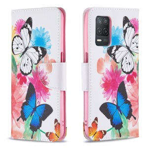 Θήκη Realme 8 5G OEM Vivid Butterflies με βάση στήριξης