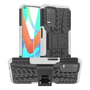 Θήκη Realme 8 5G OEM πλάτη Armor Tire Texture με βάση στήριξης λευκό