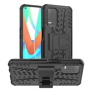 Θήκη Realme 8 5G OEM πλάτη Armor Tire Texture με βάση στήριξης μαύρο