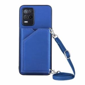 Θήκη Realme 8 5G OEM Πλάτη δερματίνη με υποδοχές καρτών και αντικραδασμικό Premium TPU μπλε