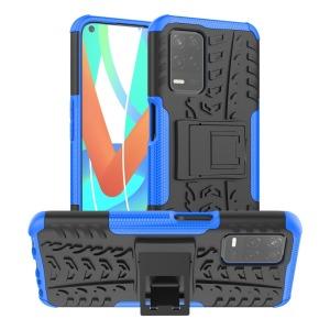 Θήκη Realme 8 5G OEM πλάτη Armor Tire Texture με βάση στήριξης μπλε