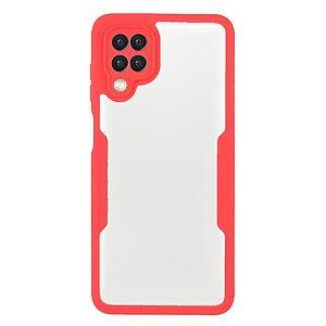 Θήκη Samsung Galaxy A22 4G OEM Full Cover Case 360° με Screen Protector και TPU Frame κόκκινο
