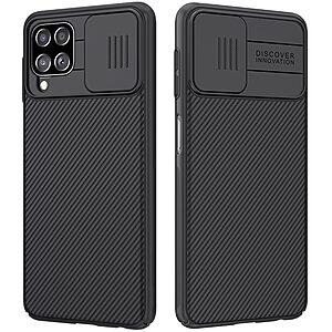 Θήκη Samsung Galaxy A22 4G NiLLkin Camshield Series Πλάτη με προστασία για την κάμερα από σκλήρό Premium TPU μαύρο