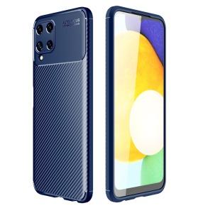 Θήκη Samsung Galaxy A22 4G OEM Beetle Series Carbon Fiber Πλάτη TPU μπλε