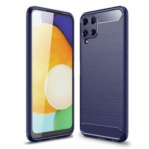 Θήκη Samsung Galaxy A22 4G OEM Brushed TPU Carbon Πλάτη μπλε