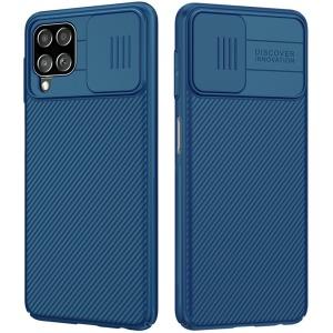 Θήκη Samsung Galaxy A22 4G NiLLkin Camshield Series Πλάτη με προστασία για την κάμερα από σκλήρό Premium TPU μπλε