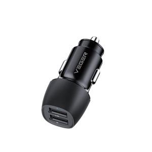 Φορτιστής Αυτοκινήτου VEGER Dual Port Fast Charge με δύο θύρες USB 17W (CC316-2A) μαύρο