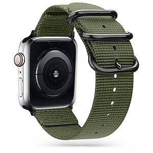 Λουρί Tech-Protect Scout για Apple Watch 4 / 5 / 6 / 7 / SE (42 / 44 / 45 mm) σκούρο πράσινο